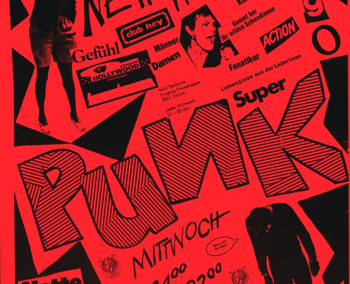 Alec-von-Tavel-Poster-per-le-serate-Super-Punk-Club-Hey-Zurich-1977-offset-su-carta-42-x-29