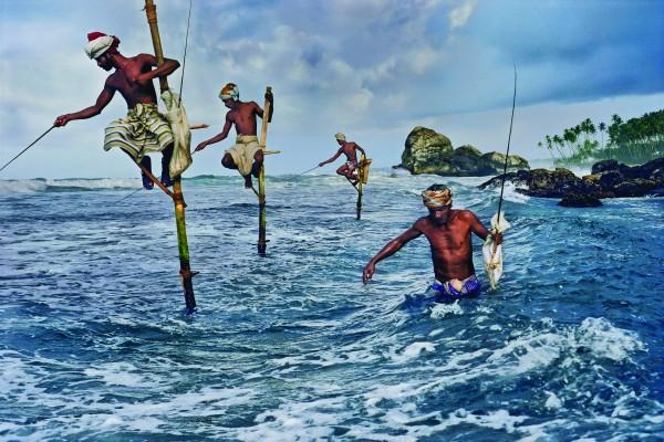 Pescadores, Weligama, Costa Meridional, 1995